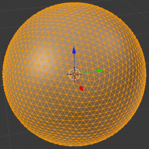A sphere based on a subdivided icosahedron